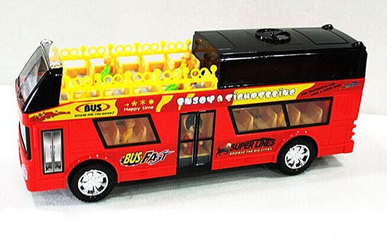 Plastics Kids Red Electric Double Decker Bus Toy
