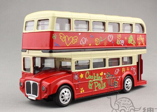 Kids Pull-Back Function Die-Cast London Double Decker Bus Toy