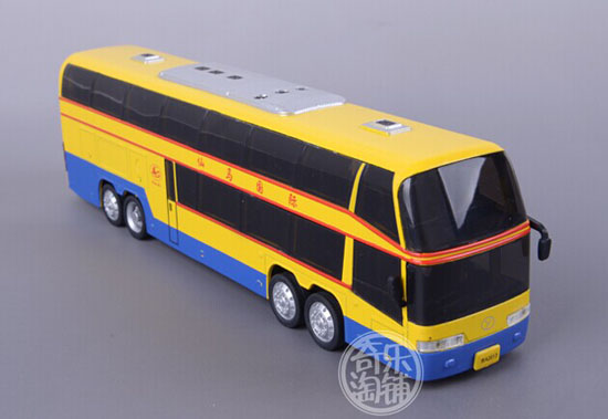 Red / White / Blue / Yellow Kids Die-Cast Double Decker Bus Toy