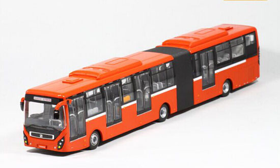 1:64 Scale Red Die-Cast SunWin BRT Articulated Bus Model