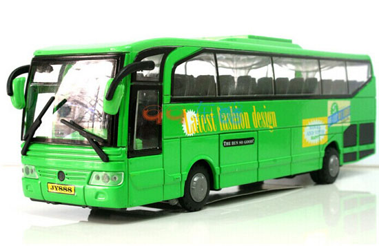 1:50 Scale Pull-Back Function Kids Green Diecast Tour Bus Toy