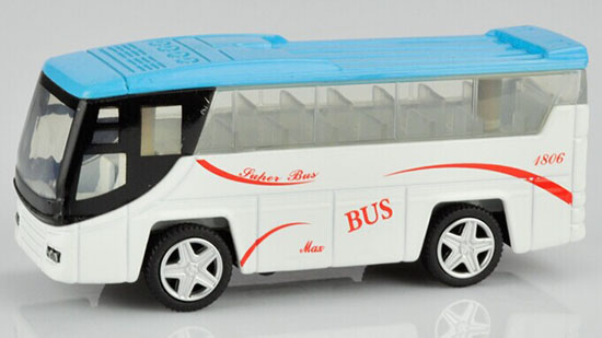 Green / Blue Kids 1:64 Scale Die-Cast Tour Bus Toy