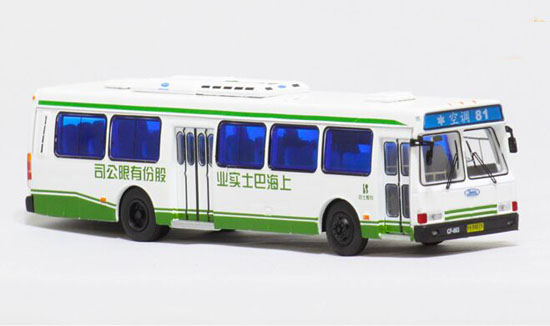 White NO.81 1:76 Scale Die-Cast FLXIBLE City Bus Model