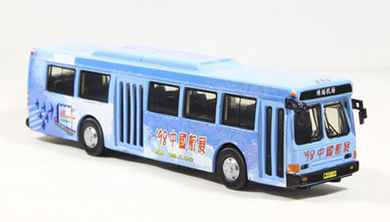 1:76 Scale Blue 98 Airshow China Die-Cast FLXIBLE City Bus Model