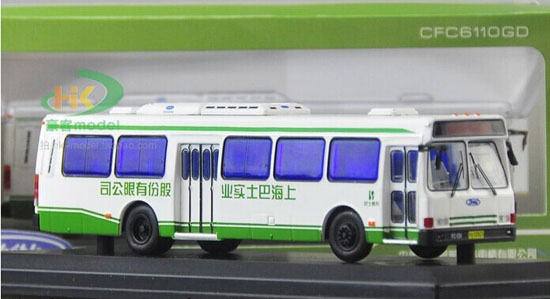 1:76 Scale White NO.71 Die-Cast FLXIBLE City Bus Model