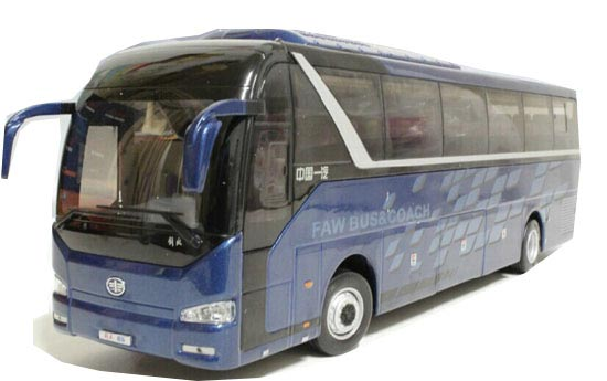 1:36 Scale Blue Diecast FAW JieFang Coach Model