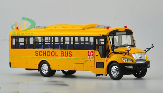 1:42 Scale Yellow Die-Cast YuTong School Bus Model