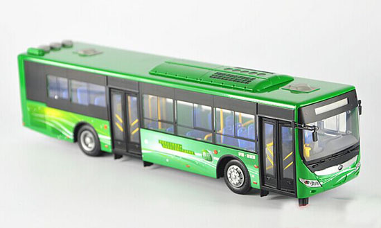 1:42 Scale Green Die-Cast YuTong City Bus Model