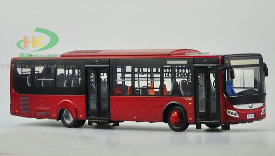 1:42 Scale Red Die-Cast YuTong City Bus Model