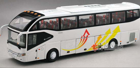 1:42 Scale White Die-Cast YuTong ZK6127H Coach Model