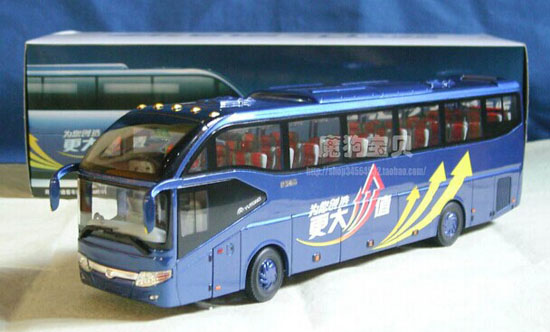 Blue 1:42 Scale Die-Cast YuTong ZK6127H Coach Model