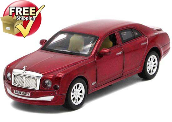 1:32 Scale Black / Red / White / Blue Bentley Mulsanne Car Toy