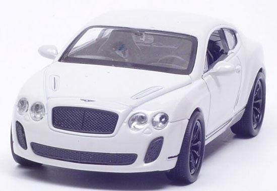 1:36 Scale White /Red /Golden Bentley Continental Supersports