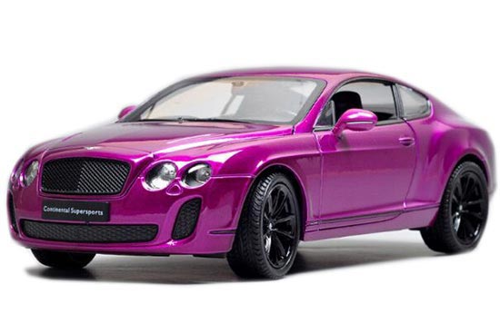 1:24 Scale White / Purple / Gray Bentley Continental Supersports
