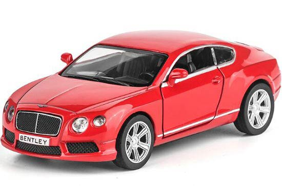 Pull-back Function 1:36 Kids Red / Black / White Bentley Car Toy
