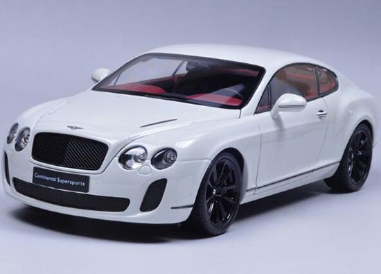 1:18 Scale White / Orange / Gray Bentley Continental GT Model