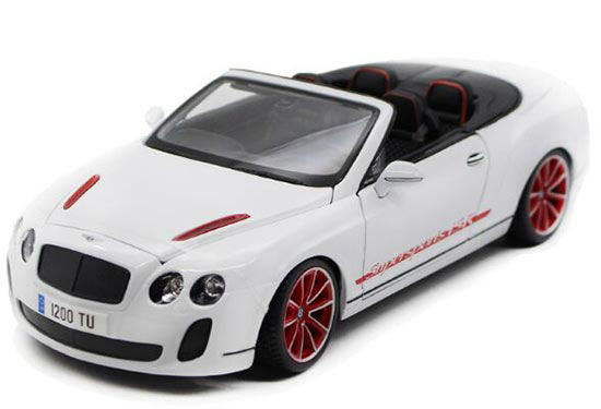 1:18 Scale White / Black Convertible Bentley Continental Model