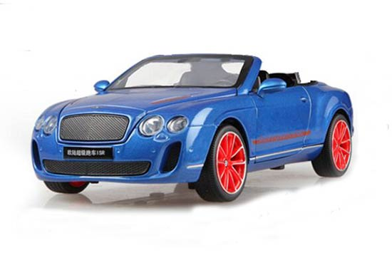 1:24 White / Blue Diecast Bentley Continental Supersports ISR