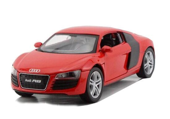 1:32 Scale Black / White / Red Kids Diecast Audi R8 Toy