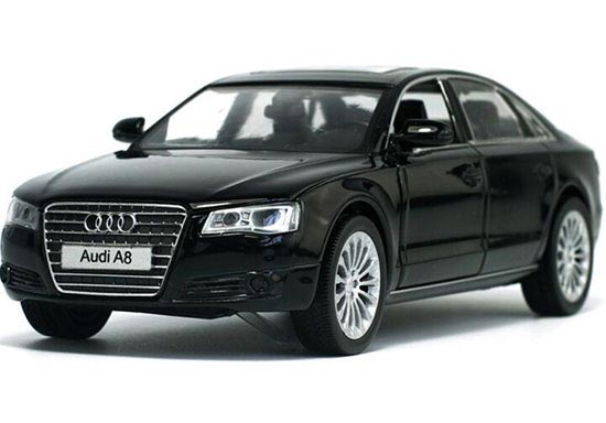 Black / White / Silver / Golden Kids 1:32 Diecast Audi A8 Toy