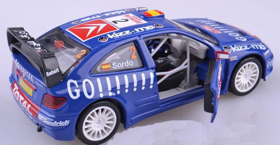 Blue 2006 Kronos Total Citroen World Rally Team Daniel Sordo