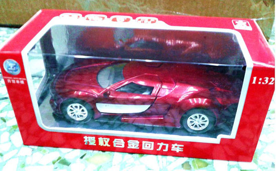 1:32 Scale Red / Wine Red/ Yellow Kids Diecast Citroen GT Toy