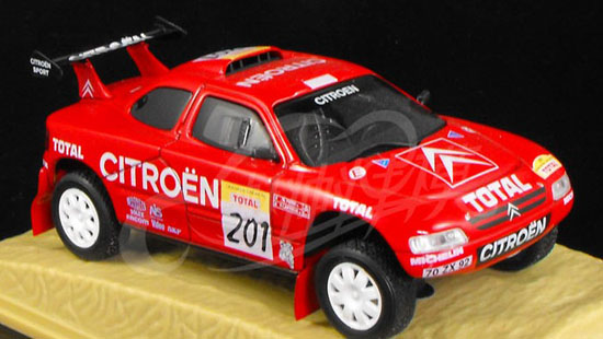 1:43 Scale Red Norev Diecast 1996 Citroen ZX Model