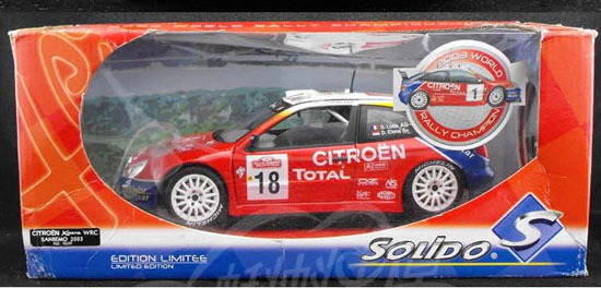 1:18 Scale Red SOLIDO Diecast 2003 Citroen Xsara WRC Model
