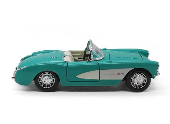 Black / Green 1:24 Scale MaiSto Diecast 1957 Chevrolet Corvette