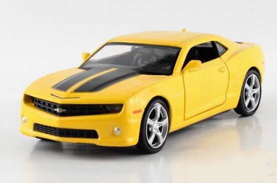 Kids 1:32 Scale Black /Red /Yellow Diecast Chevrolet Camaro Toy