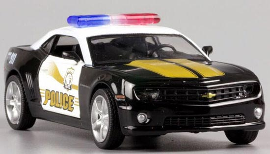 Kids 1:36 Scale Black Police Theme Diecast Chevrolet Camaro Toy