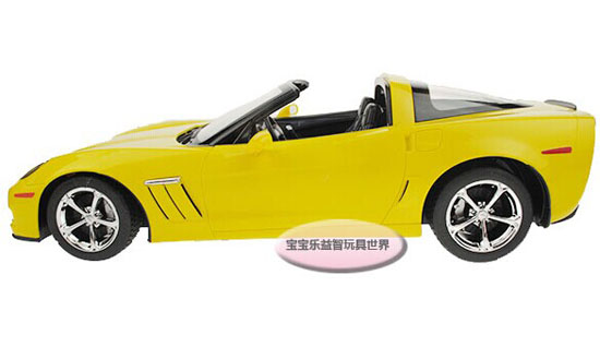 Yellow / Blue 1:14 Scale Kids R/C Chevrolet CORVETTE Toy