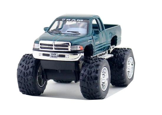 Kids Red / Green / Black / Silver Diecast Dodge RAM Pickup Toy