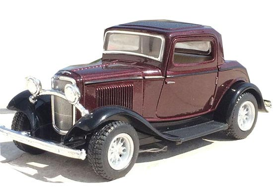 Red / Wine Red / Yellow / Blue Diecast 1932 Ford Window Coupe