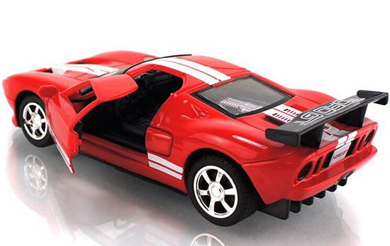 red gray white yellow kids diecast ford gt sports car fa01t0008. Black Bedroom Furniture Sets. Home Design Ideas