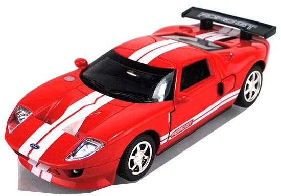 Red / Gray / White / Yellow Kids Diecast Ford GT Sports Car