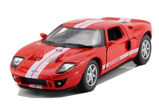 Diecast Red / Black / White /Yellow 2006 Ford GT Sports Car Toy