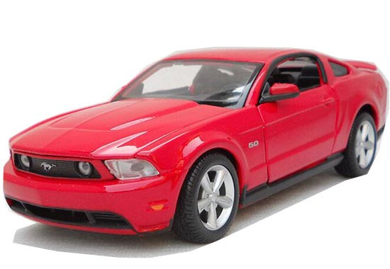 Red / Yellow 1:24 Scale Maisto Diecast 2011 Ford Mustang GT