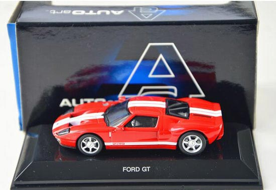 Red / Yellow 1:64 Scale AUTOART Diecast Ford GT
