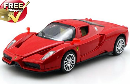 Kids 1:32 Scale Red / Green / Yellow Diecast Ferrari Enzo