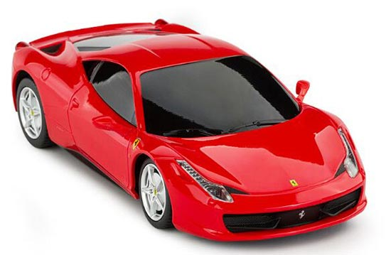 Kids 1:24 Scale Red / Yellow R/C Ferrari 458 Toy