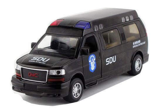 1:32 Scale Black Diecast GMC Hong Kong Special Duties Unit Toy