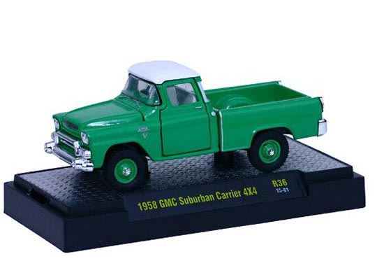 Mini Scale Green Diecast 1958 GMC Pickup Truck Toy