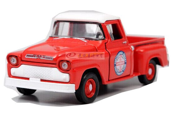 Red 1:64 Scale Diecast 1958 GMC Pickup Truck Toy