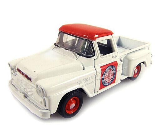 White 1:64 Scale Diecast 1958 GMC Pickup Truck Toy
