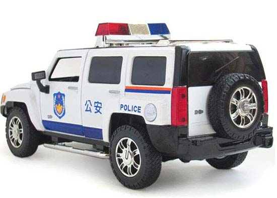 White / Black Kids 1:24 Scale Police Diecast Hummer H3 Toy