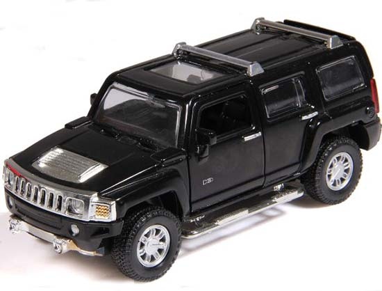 1:32 Scale Silver / Black / Red / Yellow Diecast Hummer H3 Toy