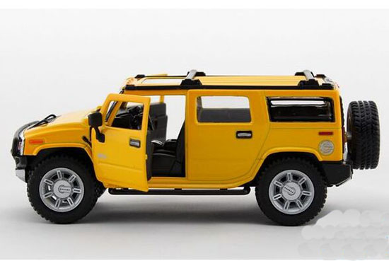 Kids Red / Yellow / Black 1:32 Scale Diecast Hummer H2 Toy