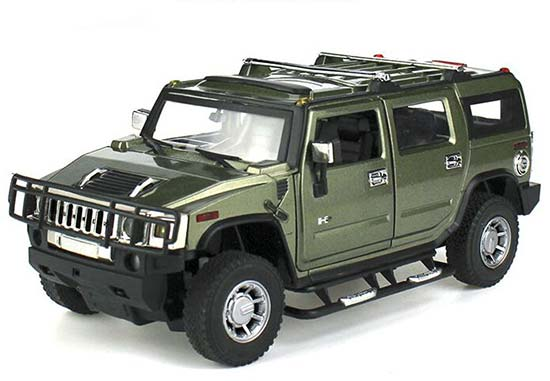 Red / Blue / Army Green 1:24 Scale Diecast Hummer H2 Model