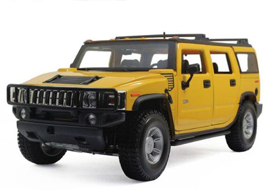 1:18 Scale Black / White /Yellow MaiSto Diecast Hummer H2 Model